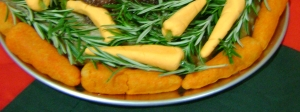 Detail of the marchpane carrots (the darker ones)
