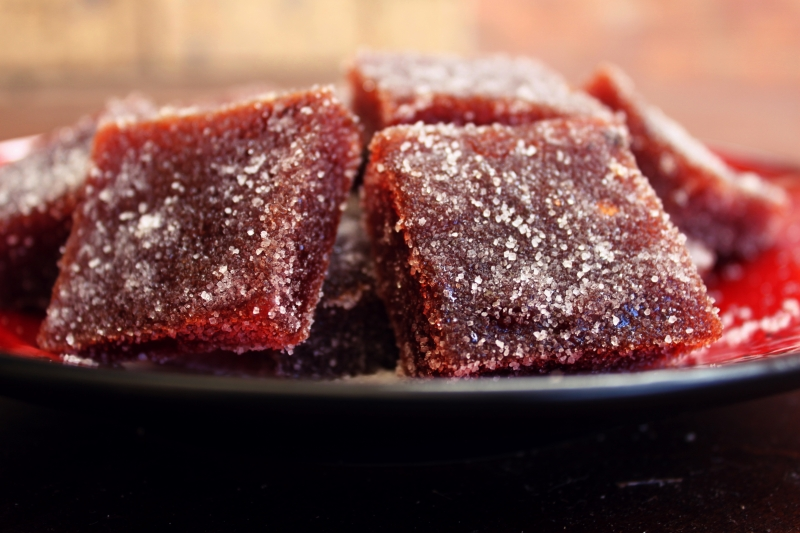 Squares of Quince Paste (these were a little too big given the sweetness of the paste)