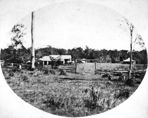 Distance view of The Hollow Mackay ca. 1872. Mina's first home after her wedding in 1872. Image from the State Library of Queensland.