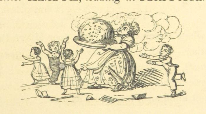 Image taken from page 23 of 'Recollections of Old Christmas: a masque. Performed at Grimston. [By Thomas C. Croker.]' Courtesy of the British Library.