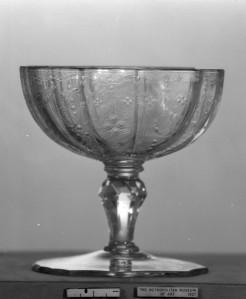 Sweetmeat Glass. 1750, Bohemian. Glass. via www.metmuseum.org