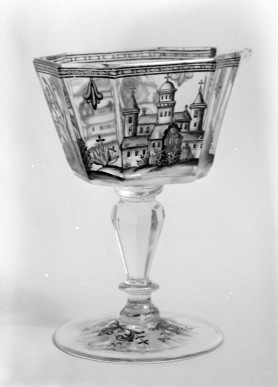 Sweetmeat Glass. ca. 1740, German. Glass. via www.metmuseum.org
