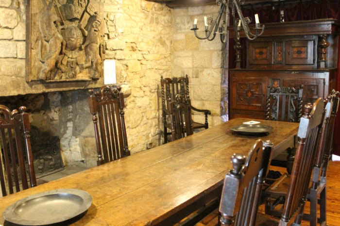 The dining room, with 18th century furnishings.