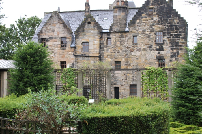 The back of Provand's Lordship and part of the herb garden which would have provided medicinal herbs for the hospital across the road.