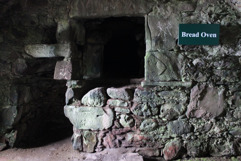 The bread oven at Dunnottar Castle.