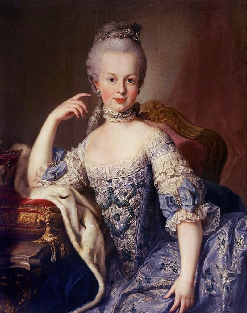 Portrait of 12 yr old Marie Antoinette by Martin van Meytens c. 1767-1768 [Public domain], via Wikimedia Commons