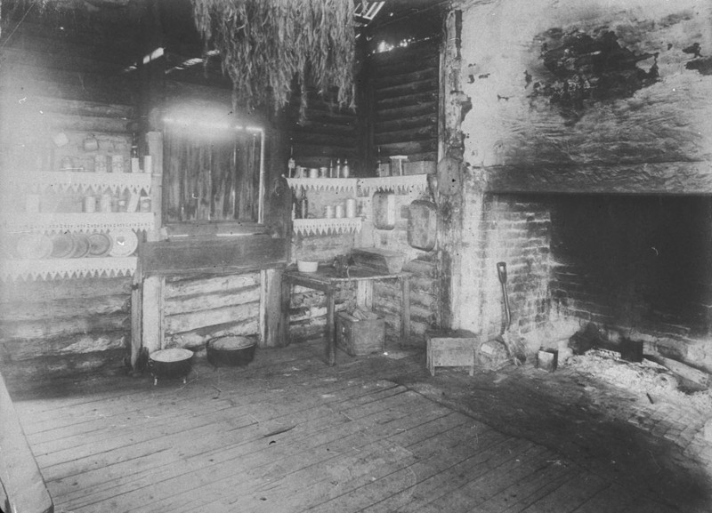 View of a Bush Kitchen, c. 1896. Image courtesy of the State Library of NSW.