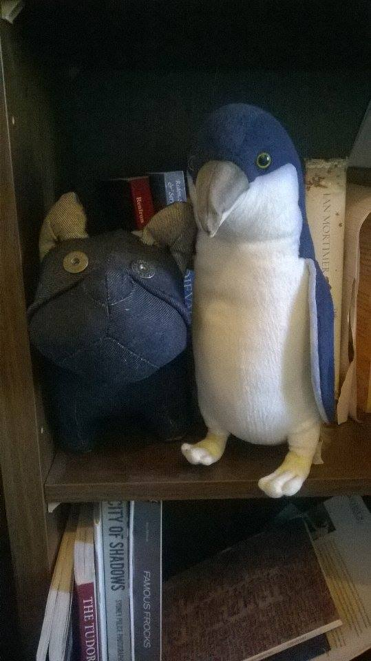 And my penguin? He's already making friends.