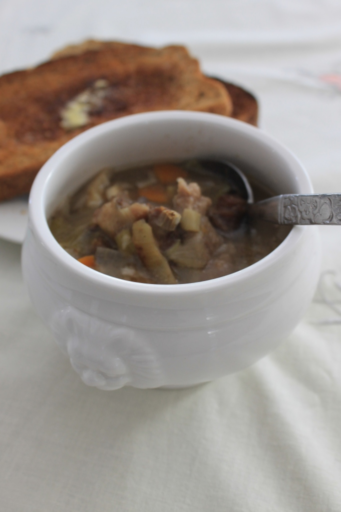 Oxtail Soup made from Alexis Soyer's 1855 recipe